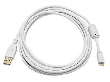 Monoprice 8642 10ft USB 2.0 to Micro USB Male 28/24AWG Cable Ferrite Core WHITE