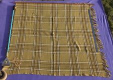 WHITE STAR LINE RMS OLYMPIC TITANIC ERA 2ND CL RARE MUSTARD DECK CHAIR BLANKET