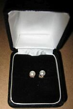 14K Yellow Gold cultured Baby Pearls Round Earrings Tears of God 5mm tiny teeny