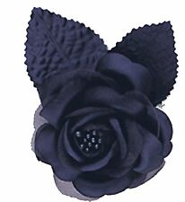 12 silk roses wedding favor flower corsage navy blue 2.75""