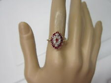 BEAUTIFUL ESTATE 14 KT GOLD RUBY AND DIAMOND RING 4.1 GRAMS !!!!!!!!