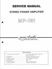 MacAudio Service Manual per mp-161