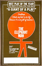 The Elephant Man Tom Mallow Vintage Original Show Promotion  Marque Poster 1977