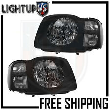 Headlights Headlamps Pair Left right set for 02-04 Nissan Xterra XE
