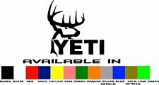 Yeti Hunter Vinyl Window Decal Sticker 4 Inch Deer Buck Antlers Buy 2 Get 1 FREE