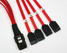 NEW Mini SAS SFF-8087 to 4 sata 3 6gbps Internal Multilane SAS Cable Red 50CM