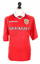 Ryan Giggs Signed Manchester United 1999 Treble Final Shirt Autograph Jersey COA