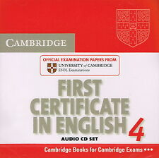 FCE Cambridge FIRST CERTIFICATE IN ENGLISH 4 Audio CD Set @NEW SEALED 2 CD's@