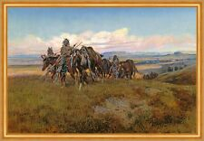In the Enemys Country Charles M. Russell Indianer Pferde Feindesland B A2 01092