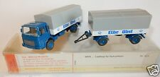 WIKING HO 1/87 CAMION MAN BLEU ELBE OBST + TRAILER REMORQUE in box 2