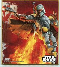 "2015 BANDAI JAPAN STAR WARS #SW-C6 BOBA FETT 4 3/4"" x 5 11/32"""