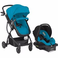 URBINI Omni 3 in 1 Travel System Teal Stroller Convertible Baby Car Seat Basinet