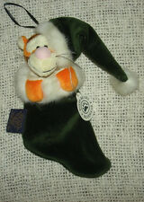 Older Disney Gallery Pooh TIGGER Plush Boyds Christmas Mini Stocking Ornament