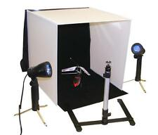 eBay & Amazon Photo Lighting Studio with lights, tripod, 4 backgrounds & case!