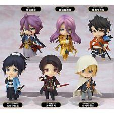 6pcs Set Anime Touken Ranbu Online 1st Squad PVC Figure Model Toys No Box