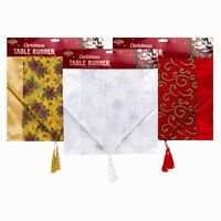 Christmas Table Runner Home Red Xia Fashions Santa Holiday Placemats