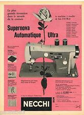 PUBLICITE ADVERTISING 105  1959  NECCHI  machine à coudre SUPERNOVA AUTOMATIQUE