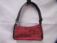 Guess Purse Handbag Small Red and Black Signature