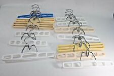 Vintage Plastic Pant Skirt Scarf Pants Shorts Clamp Clothes Hangers Lot of 13