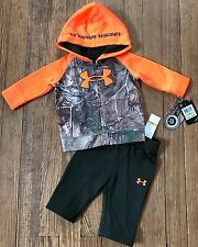 NWT Under Armour Baby Realtree Camo Sweatsuit Jacket Pants Sz 0-3 Months Gift