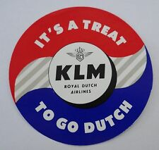 Klebebild Kofferaufkleber KLM Royal Dutch Airlines Label 50er Jahre Sticker