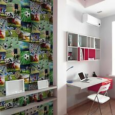 FOOTBALL COLLAGE WALLPAPER - FINE DECOR FD41915 NEW