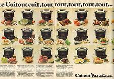 Publicité 1981 ( Double page )  Cuitout Moulinex cuiseur vapeur poele fait-tout