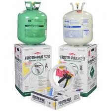 Spray Foam Insulation Kit, Dow Froth Pak 620 with 30 ft hose, covers 620 sq ft
