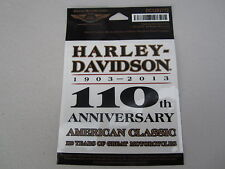 "Harley Davidson Small ""110th Anniversary Legend"" Outside Decal"