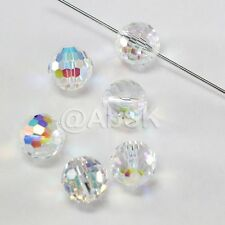 2 pcs Swarovski 5003 14mm Faceted Round Disco Ball Crystal Beads Clear AB