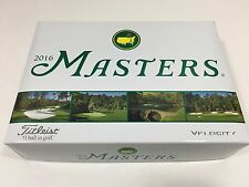 2016 MASTERS OFFICIAL GOLF BALLS TITLEIST Velocity DOZEN 12 AUGUSTA NATIONAL NEW