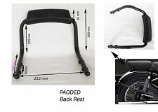 BLACK REAR BACK REST GRAB BAR ROYAL ENFIELD CLASSIC MODEL MOTORCYCLE @UK