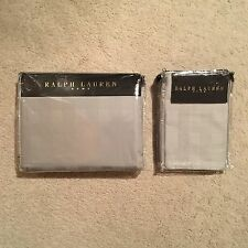 Ralph Lauren Home Glen Plaid Duvet Cover / Sham Set - Silver 200x200cm RRP: £375