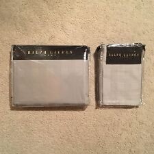 Ralph Lauren Home GLEN PLAID SUPER KING set di biancheria da letto-Argento 260x240cm RRP: £ 395