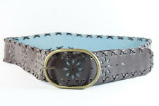 RUSTIC BROWN / TEAL LADIES BRONZE BUCKLE INSPIRED VINTAGE BELT(34.5-39inch(SC65)