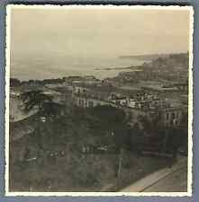 Italia, Napoli, Vista generale  Vintage silver print. Italy. Naples  Tirage ar