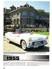 1955 Ford Thunderbird Article - Must See !!