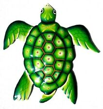 Large Beach Turtle Recycled/Reclaimed Metal Wall Yard Art - Fence Pool Deck