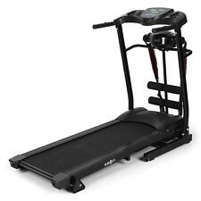 BLACK MOTORISED ELECTRIC TREADMILL RUNNING MACHINE FITNESS EXERCISE SPACE SAVE