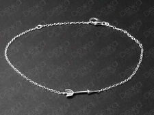 925 Sterling Silver Arrow Bracelet Archery Bow Cupid Sideways Horizontal Charm