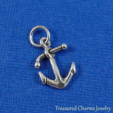 .925 Sterling Silver ANCHOR CHARM NAUTICAL Ship Boat PENDANT
