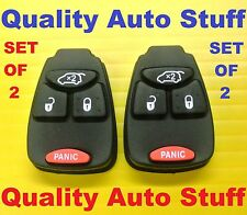NEW Lot Set of 2 Remote Head Key Button Pad OHT692427AA M3N5WY72XX 4 Button 2X