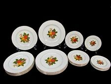 Vintage 24 pcs ENOCH WEDGWOOD LTD ~ ENGLISH HARVEST China Dinner Service For 6