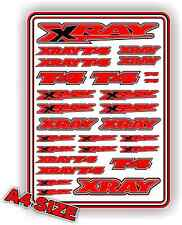 XRAY T4 STICKER DECAL SHEET 1/10 RC ELECTRIC CAR A4 TOURING DRIFT RED XRAY