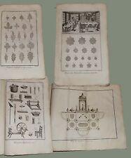 Fleuoriste arificiel Fiori artificiali 8 tavole Diderot et D'Alembert 1762