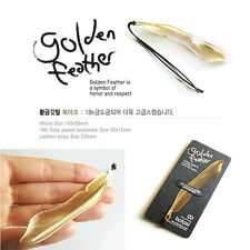 2Pcs Cute Gold Plated Metal Hollow Animal Feather Bookmark Book Paper Reading CN