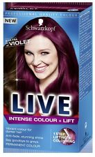 Schwarzkopf LIVE Intense Colour & Lift L76 Ultra Violet Pro Hair Colour Dye x 1