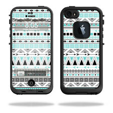 Skin Decal Wrap for Lifeproof iPhone 5/5S fre cover sticker Turquoise Tribal