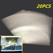 20X Feuille Transparent A4 adhésif double face Bande Claire DIY Craft 210x310mm