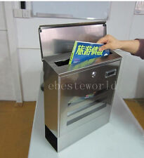 New Modern Mail boxes Stainless Steel Windows Newspaper Holder Urban Mailboxes
